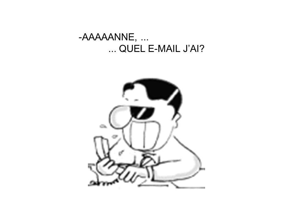 - Un moment, je regarde dans mon carnet dadresses de-mails