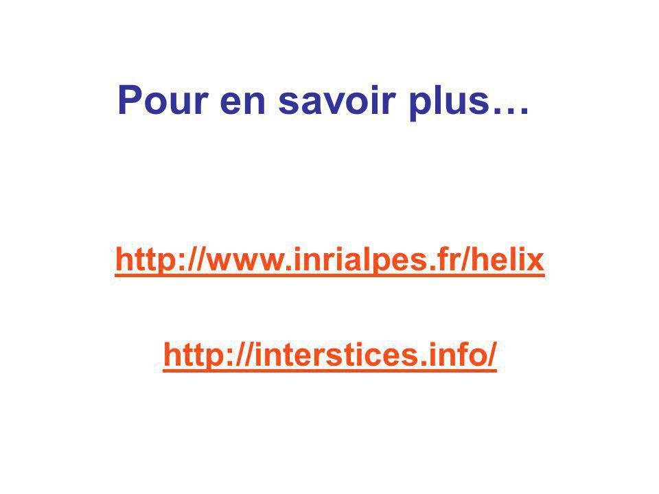 http://www.inrialpes.fr/helix http://interstices.info/ Pour en savoir plus…