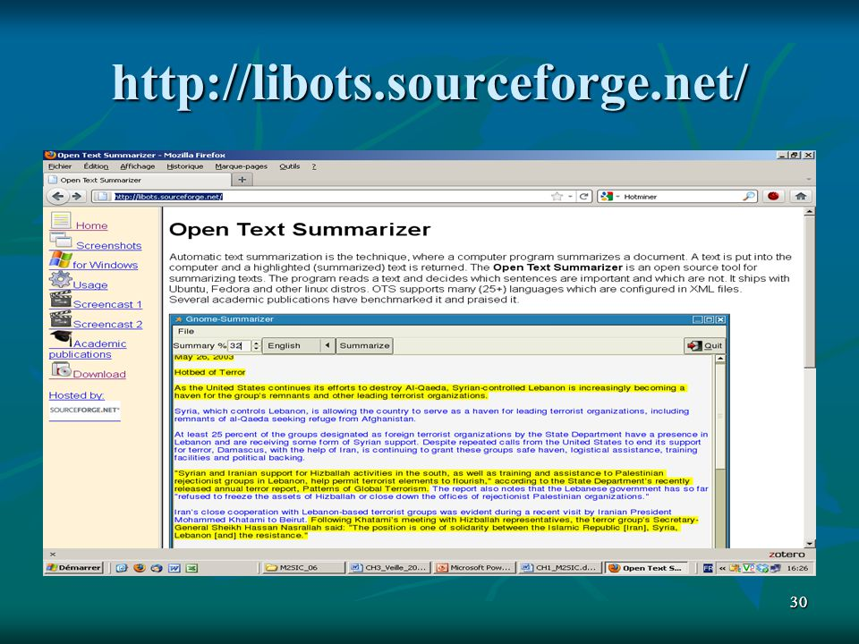 3030 http://libots.sourceforge.net/