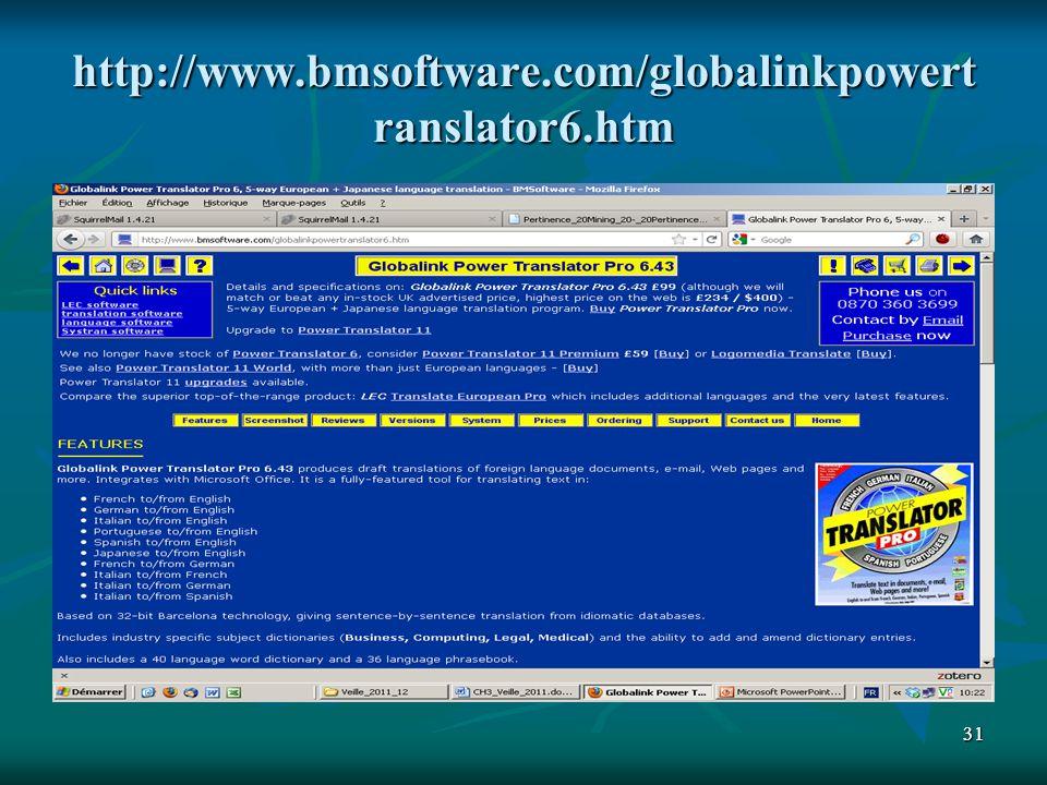 3131 http://www.bmsoftware.com/globalinkpowert ranslator6.htm