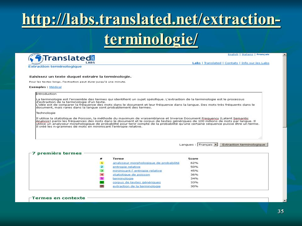 3535 http://labs.translated.net/extraction- terminologie/ http://labs.translated.net/extraction- terminologie/