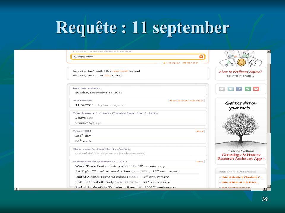 3939 Requête : 11 september