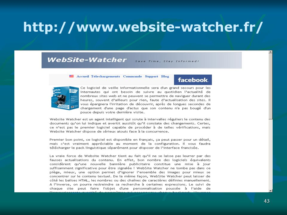 43 http://www.website-watcher.fr/