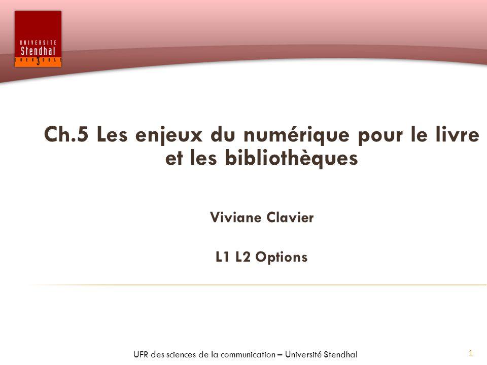 32 Récapitulatif du plan du chapitre 4 1.Le livre numérique : quel changement .
