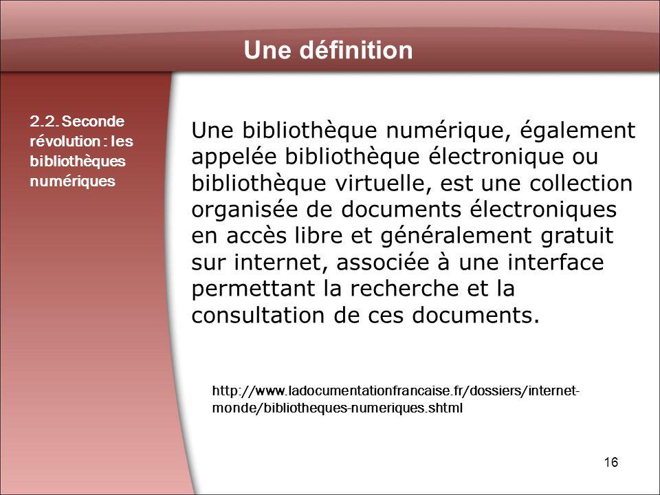 16 Une définition 2.2.