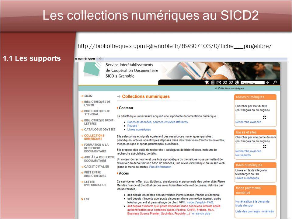 3 Les livres numériques à la bibliothèque municipale de Grenoble 1.1 Les supports http://www.numilog.com/bibliotheque/BM-grenoble/