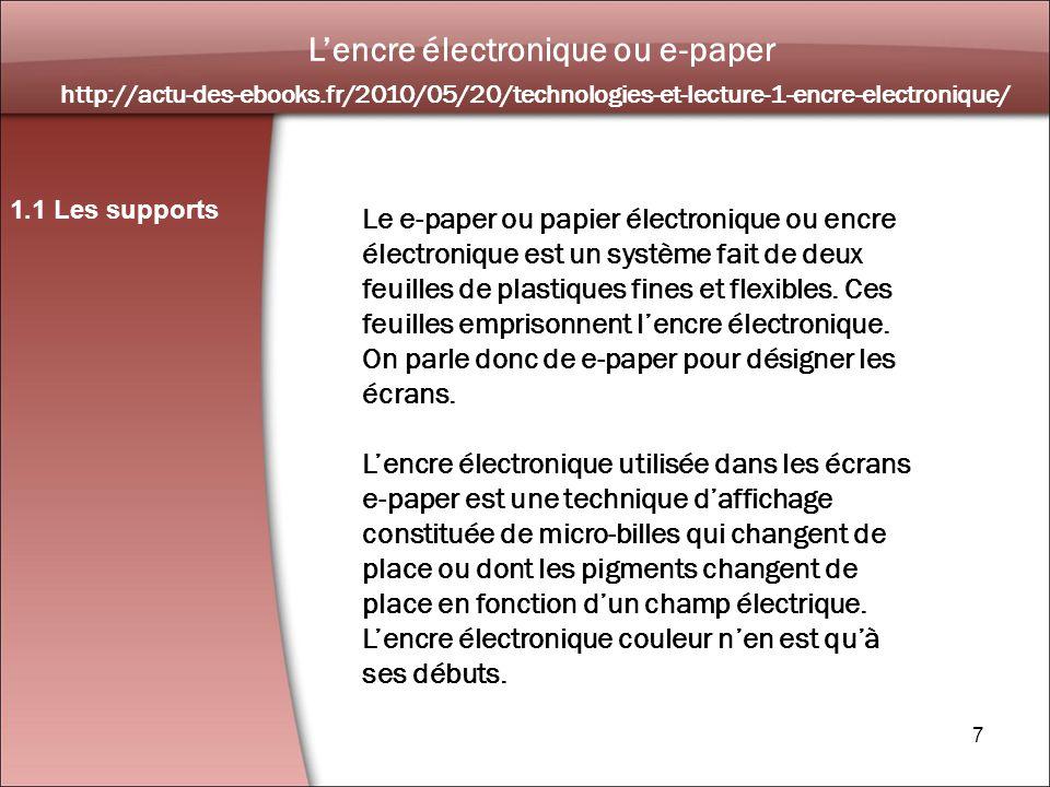 8 Un blog sur l actualité de l édition numérique 1.1 Les supports http://leo.hypotheses.org/1127