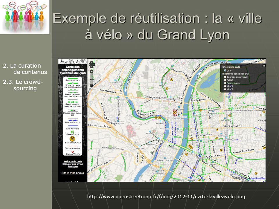 Exemple de réutilisation : la « ville à vélo » du Grand Lyon 2.