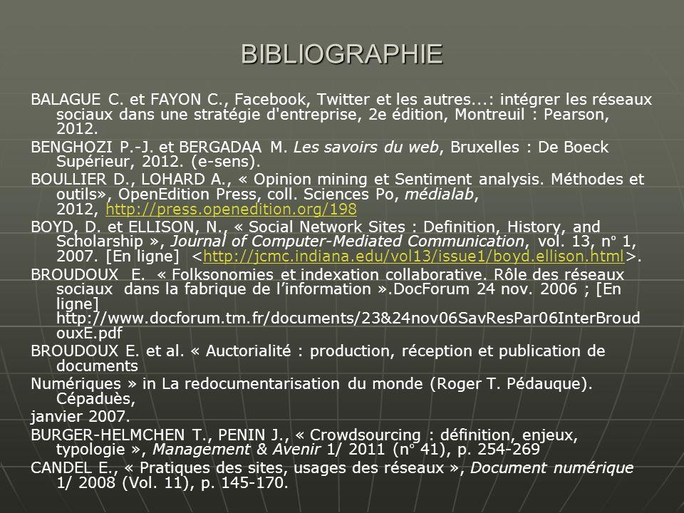 BIBLIOGRAPHIE BALAGUE C.