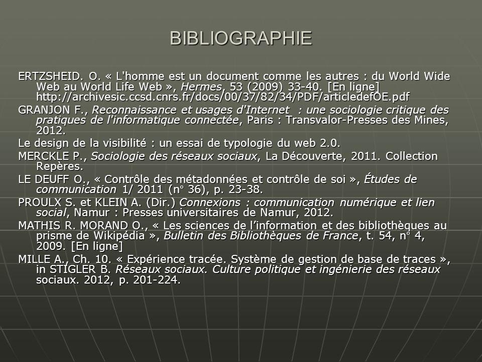 BIBLIOGRAPHIE ERTZSHEID.O.