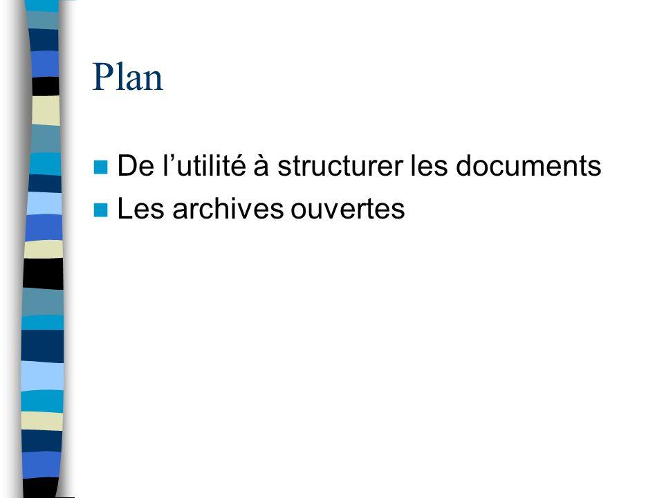 Plan De lutilité à structurer les documents Les archives ouvertes