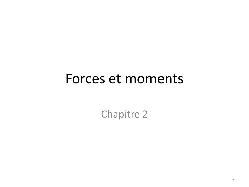 Forces et moments Chapitre 2 1