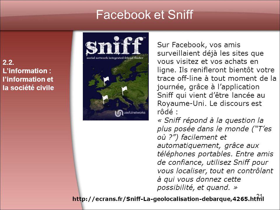 21 Facebook et Sniff 2.2.