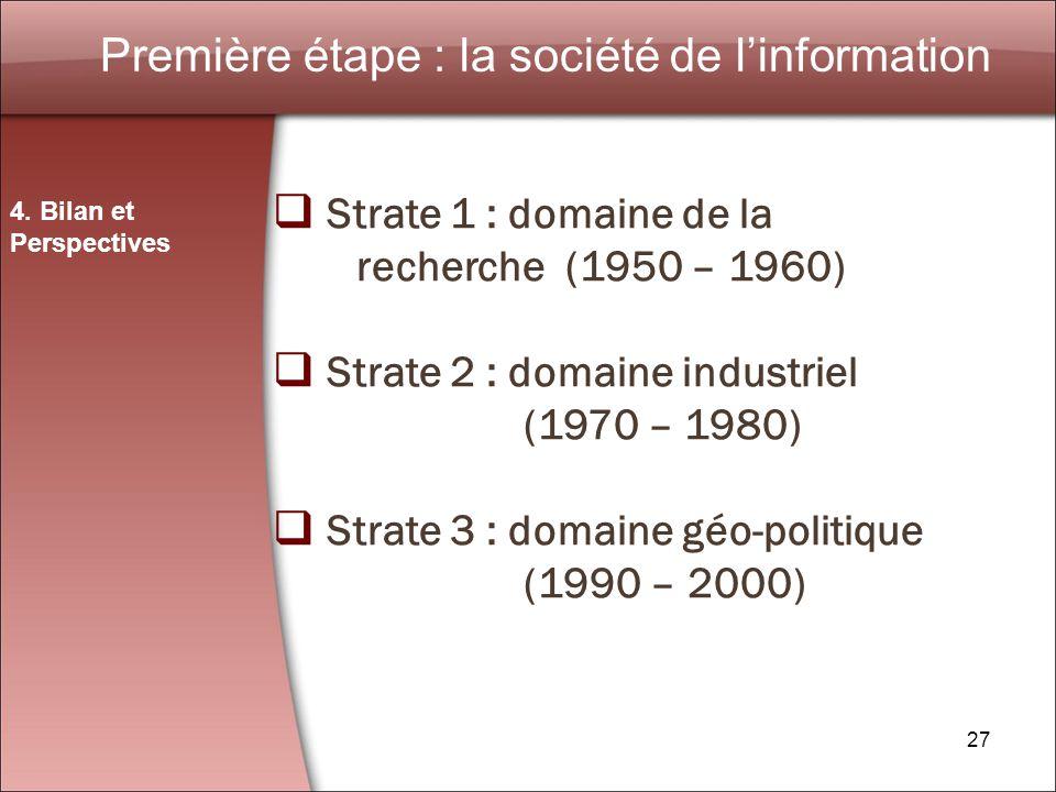 27 Première étape : la société de linformation 4.