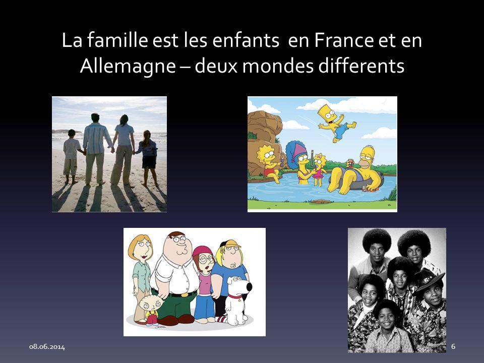 La famille est les enfants en France et en Allemagne – deux mondes differents 08.06.20146