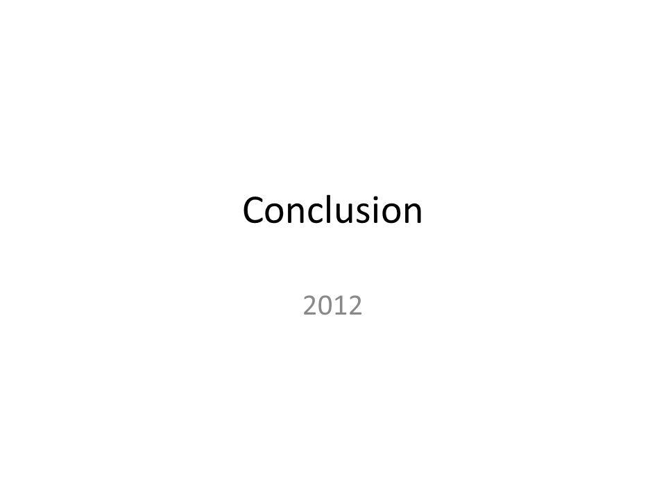 Conclusion 2012