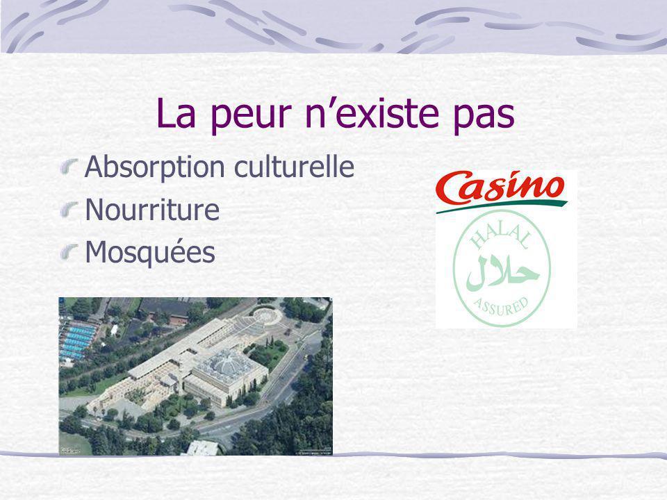 La peur nexiste pas Absorption culturelle Nourriture Mosquées