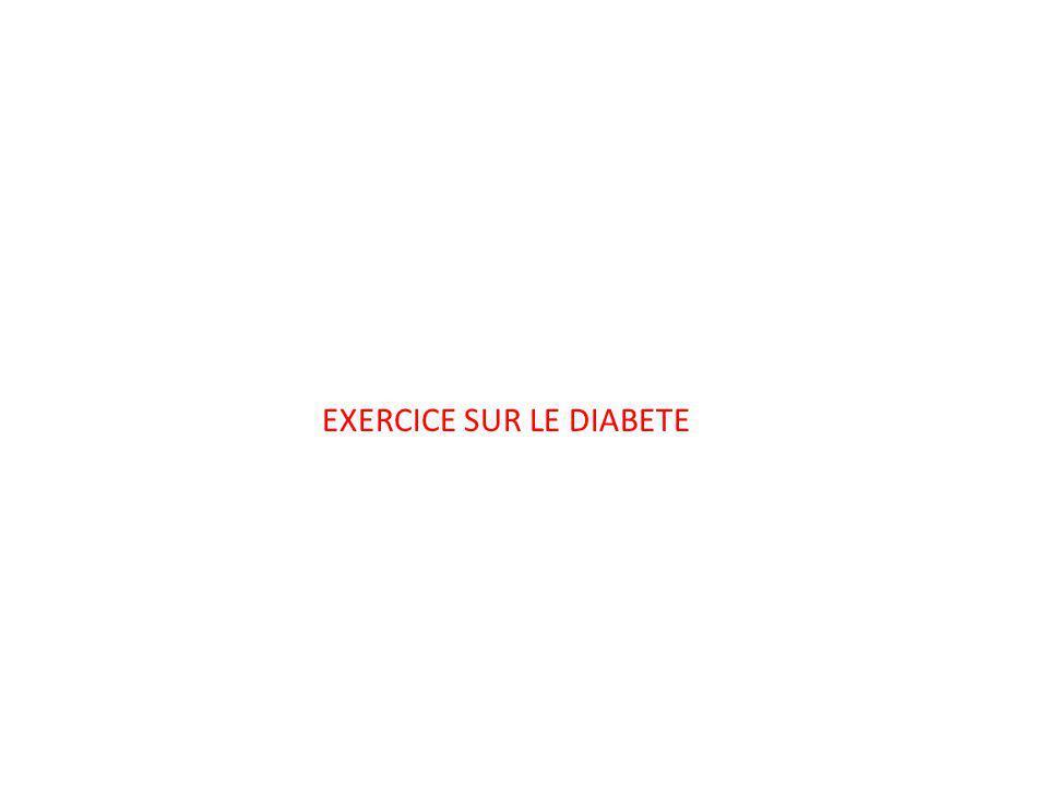 EXERCICE SUR LE DIABETE