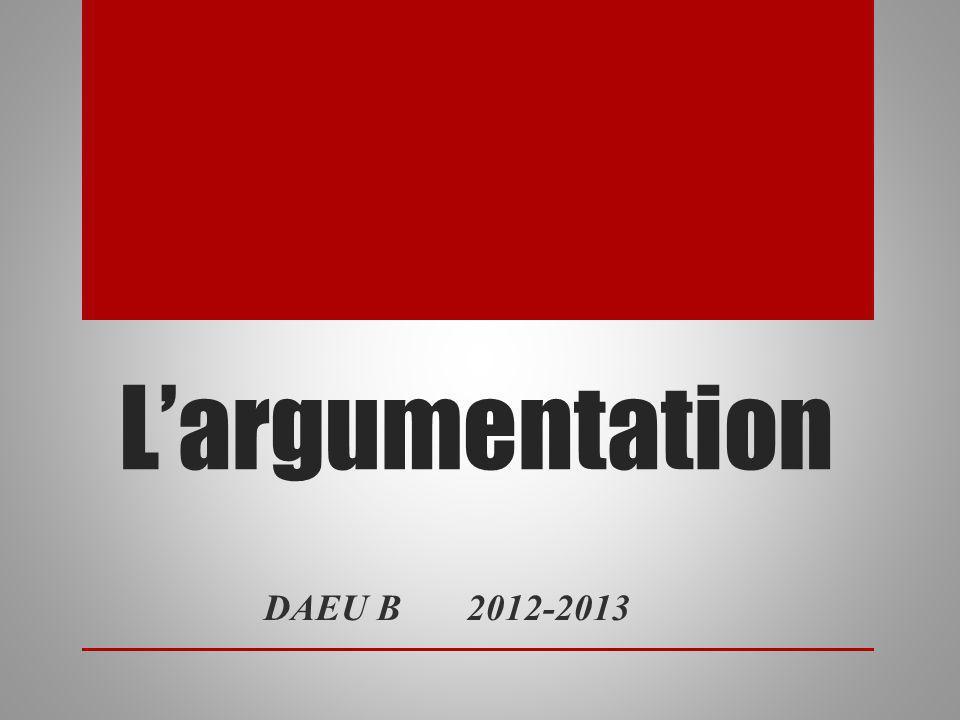 Largumentation DAEU B 2012-2013