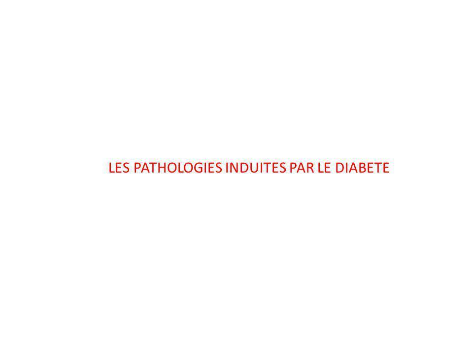 LES PATHOLOGIES INDUITES PAR LE DIABETE