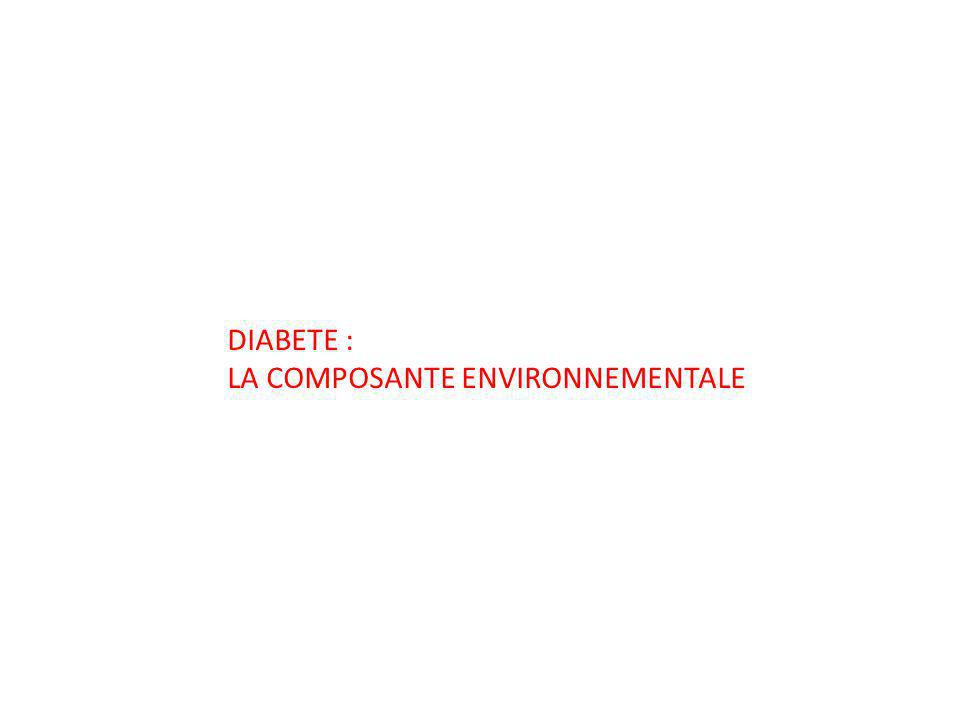 DIABETE : LA COMPOSANTE ENVIRONNEMENTALE