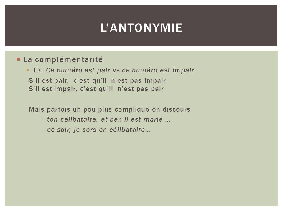 Lantonymie scalaire « Jean nest pas riche » nimplique pas forcément que « Jean est pauvre ».