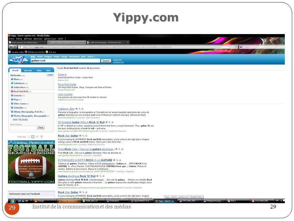 Institut de la communication et des médias 29 29 Yippy.com