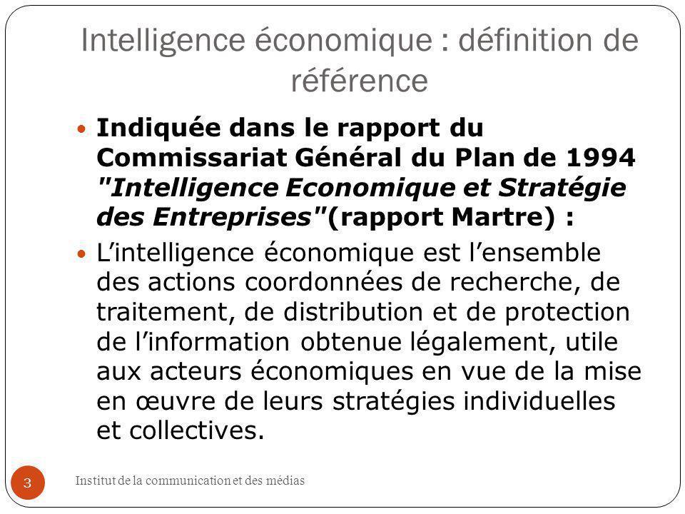 Institut de la communication et des médias 14 1.