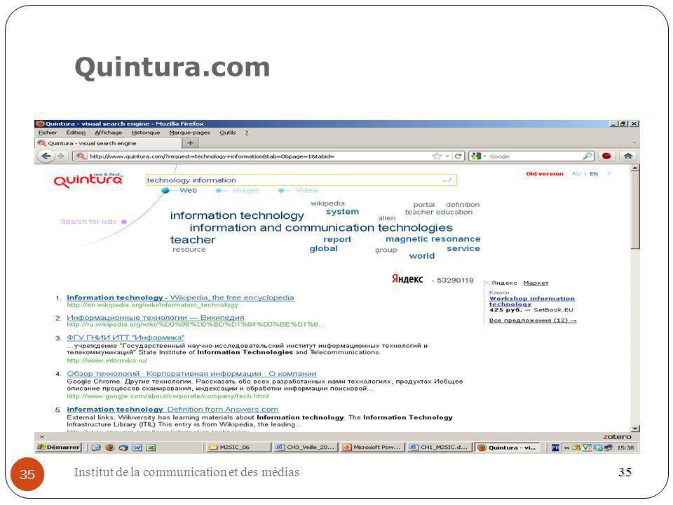 Institut de la communication et des médias 35 Quintura.com 35 35
