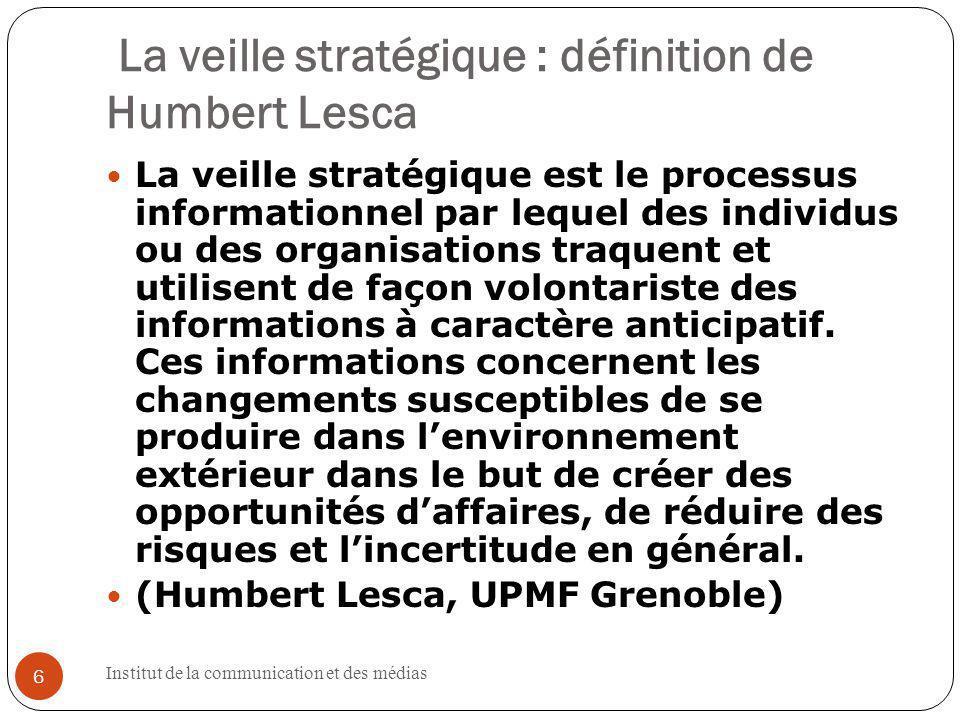 Institut de la communication et des médias 47 http://fr.sinequa.com/produit/le- point-de-vue-it/sinequa-context- engine.aspx 47 47