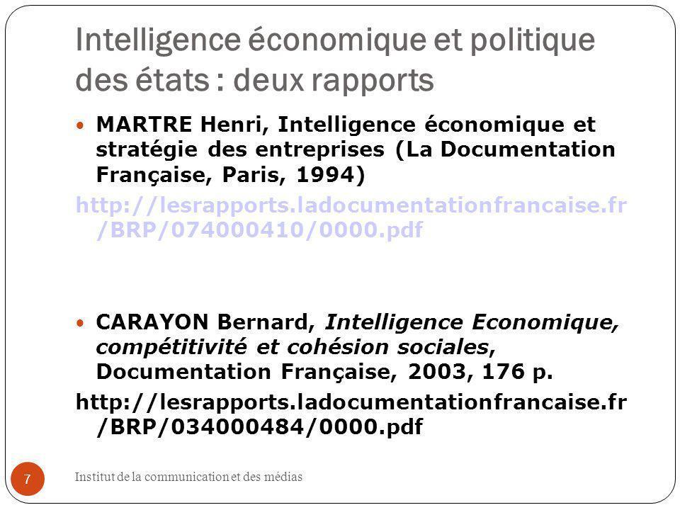 Institut de la communication et des médias 38 http://www.copernic.com/fr/ 38 38