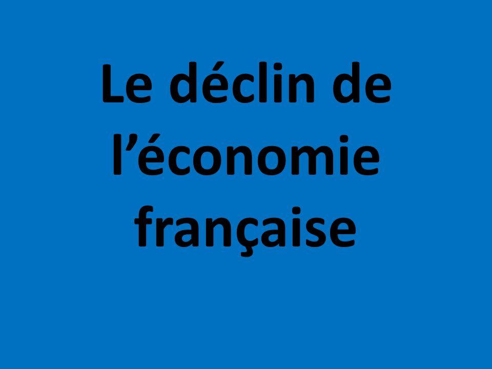 Le déclin de léconomie française