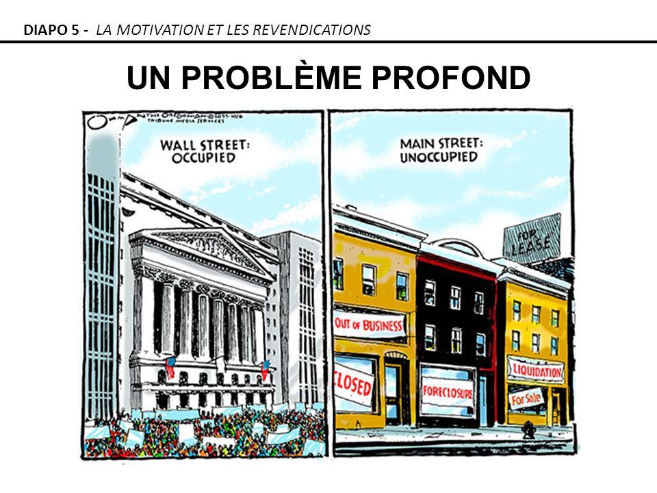 UN PROBLÈME PROFOND DIAPO 5 - LA MOTIVATION ET LES REVENDICATIONS