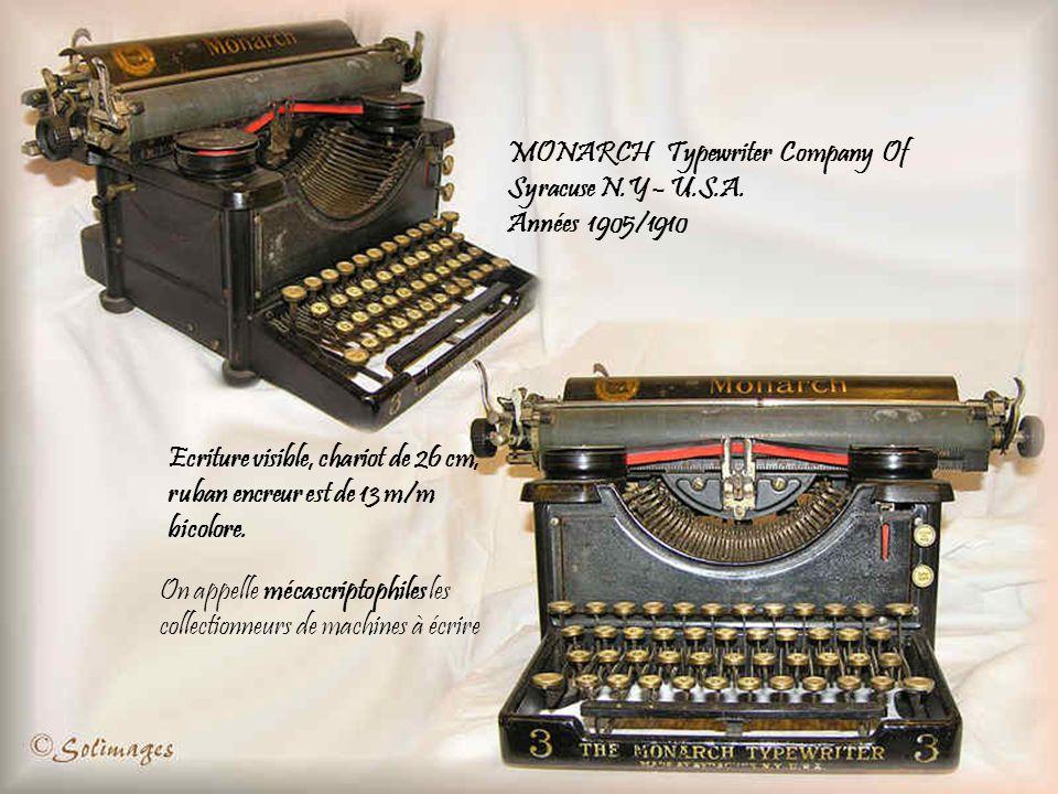MONARCH Typewriter Company Of Syracuse N.Y – U.S.A.