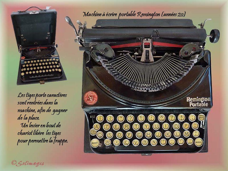 MONARCH Typewriter Company Of Syracuse N.Y – U.S.A. Années 1905/1910 Ecriture visible, chariot de 26 cm, ruban encreur est de 13 m/m bicolore. On appe