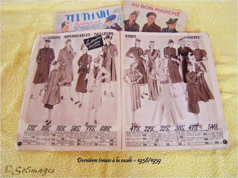 Dernières tenues à la mode – 1938/1939
