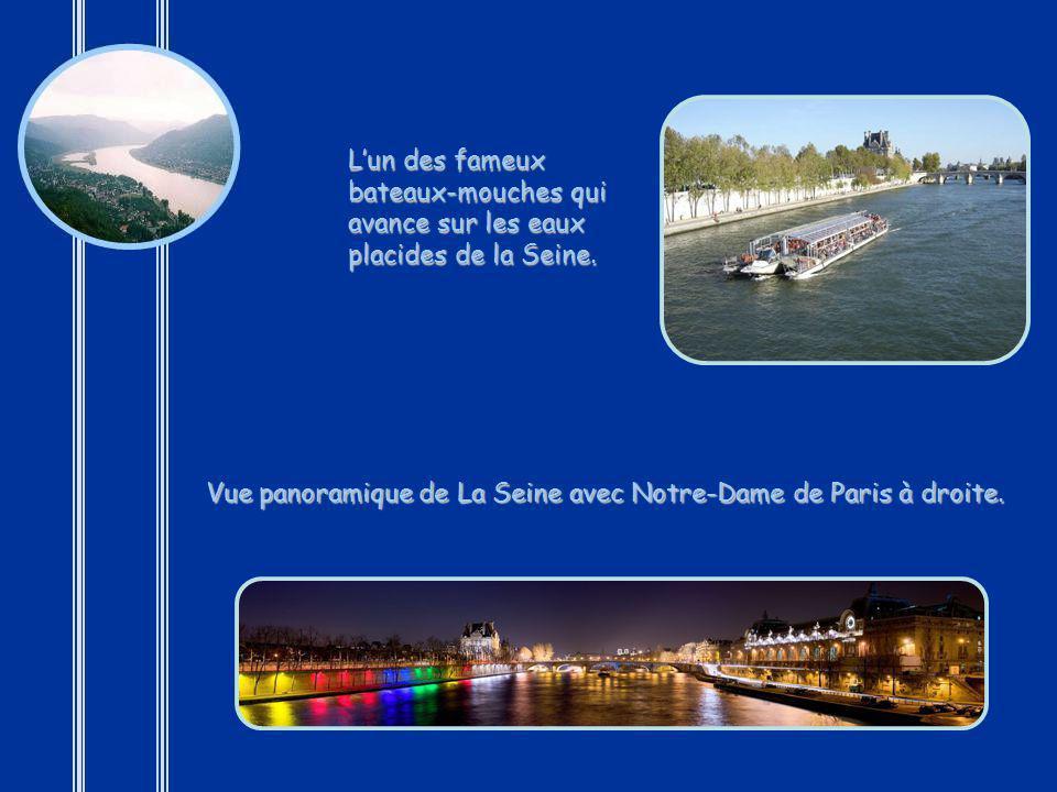 La Seine est un fleuve français de 776 km. qui arrose Paris, la ville la plus connue de France. La Seine est une voie navigable très importante, relia