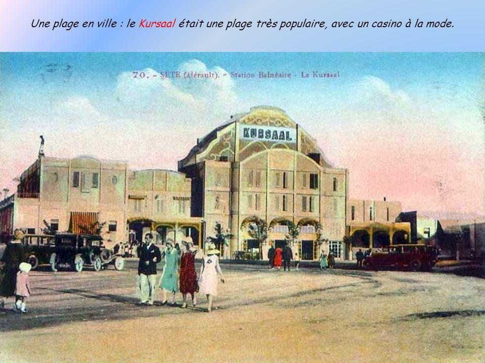 Une plage en ville : le Kursaal était une plage très populaire, avec un casino à la mode.