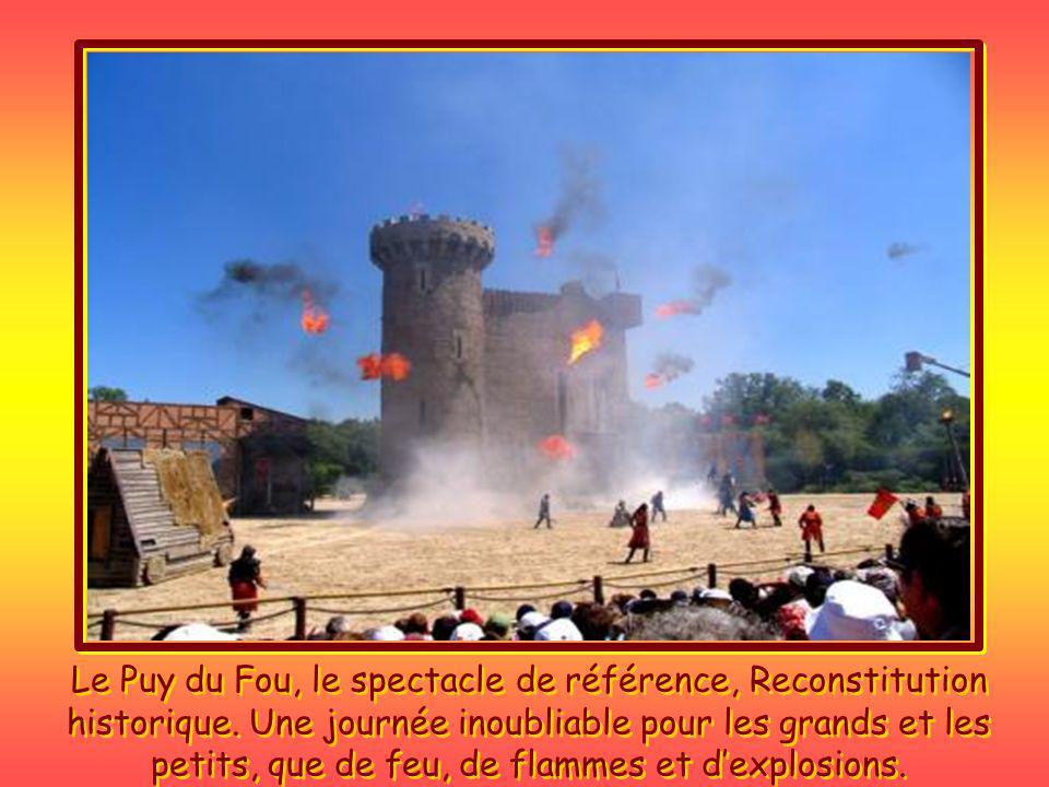 Le Puy du Fou, le spectacle des rapaces en liberté. Le bal des oiseaux fantômes.
