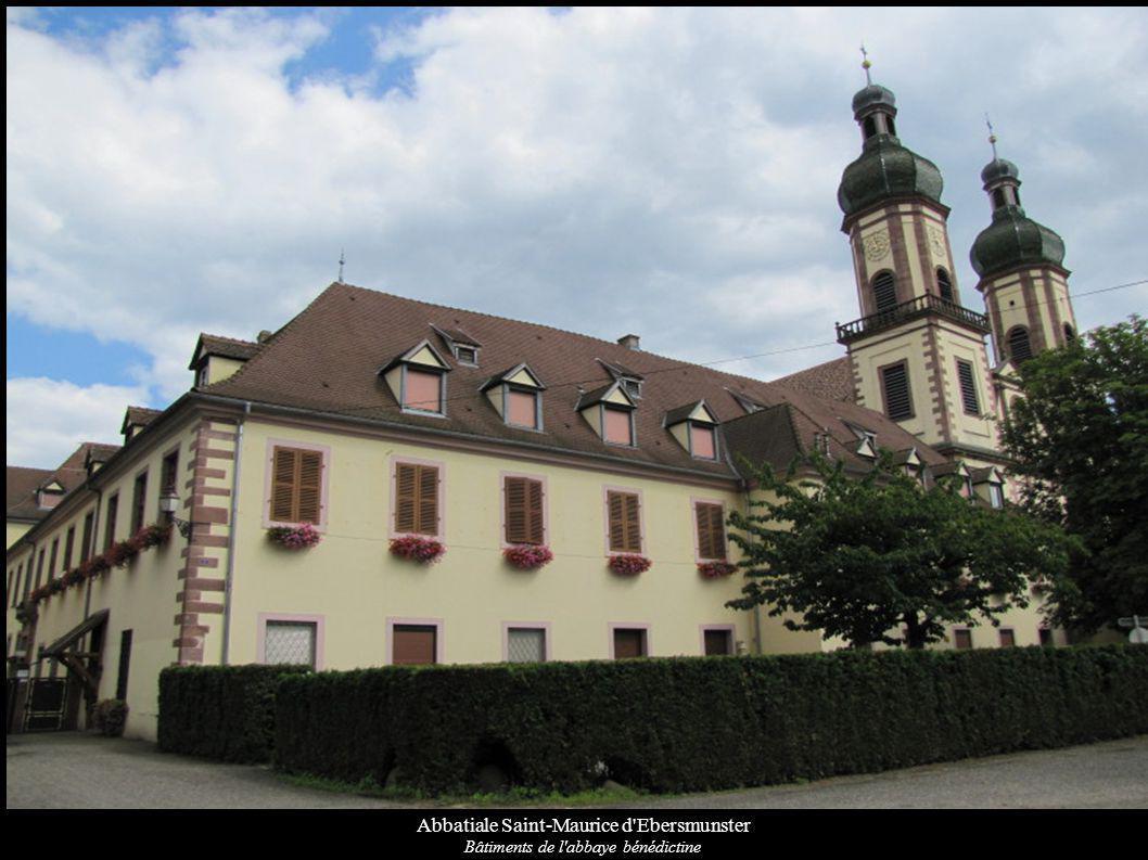 Abbatiale Saint-Maurice d'Ebersmunster Bâtiments de l'abbaye bénédictine