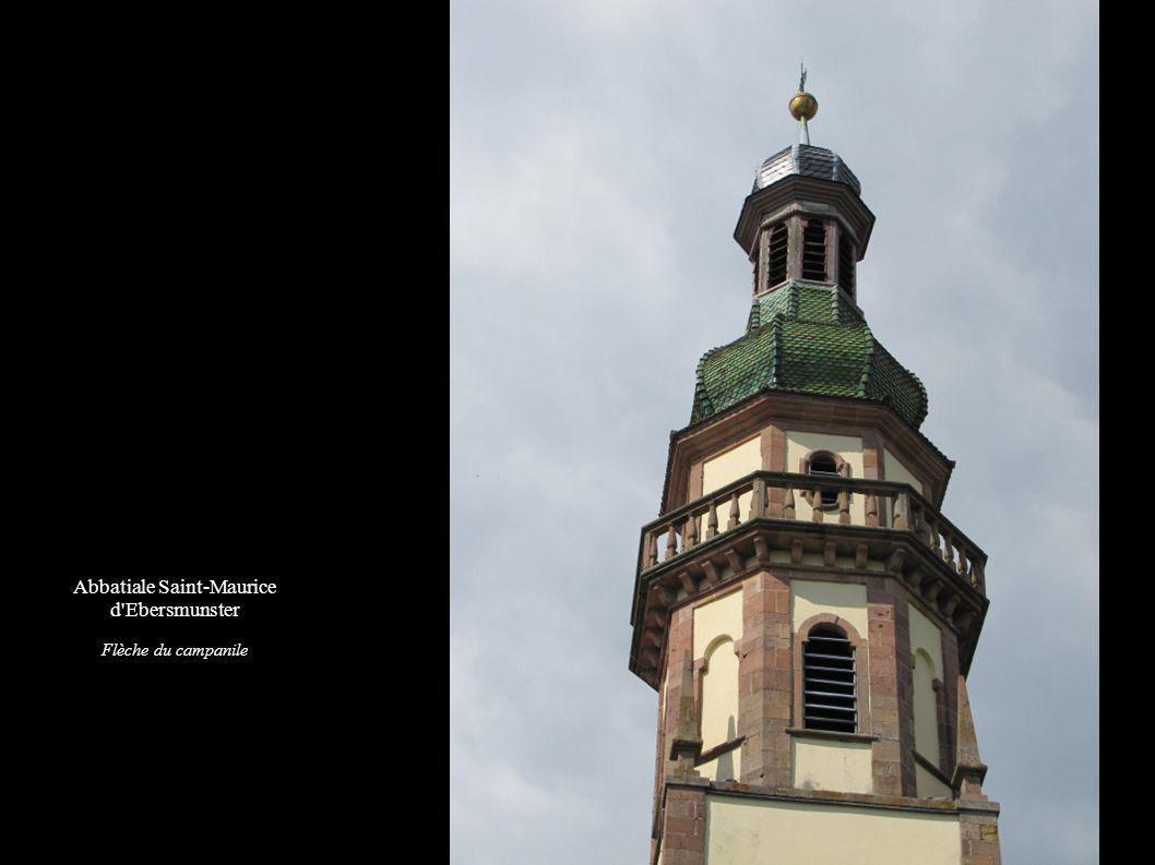 Abbatiale Saint-Maurice d Ebersmunster Flèche du campanile