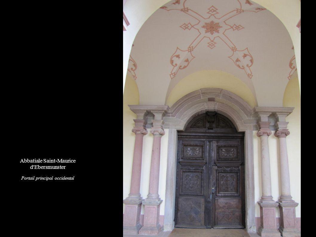 Abbatiale Saint-Maurice d Ebersmunster Portail principal occidental