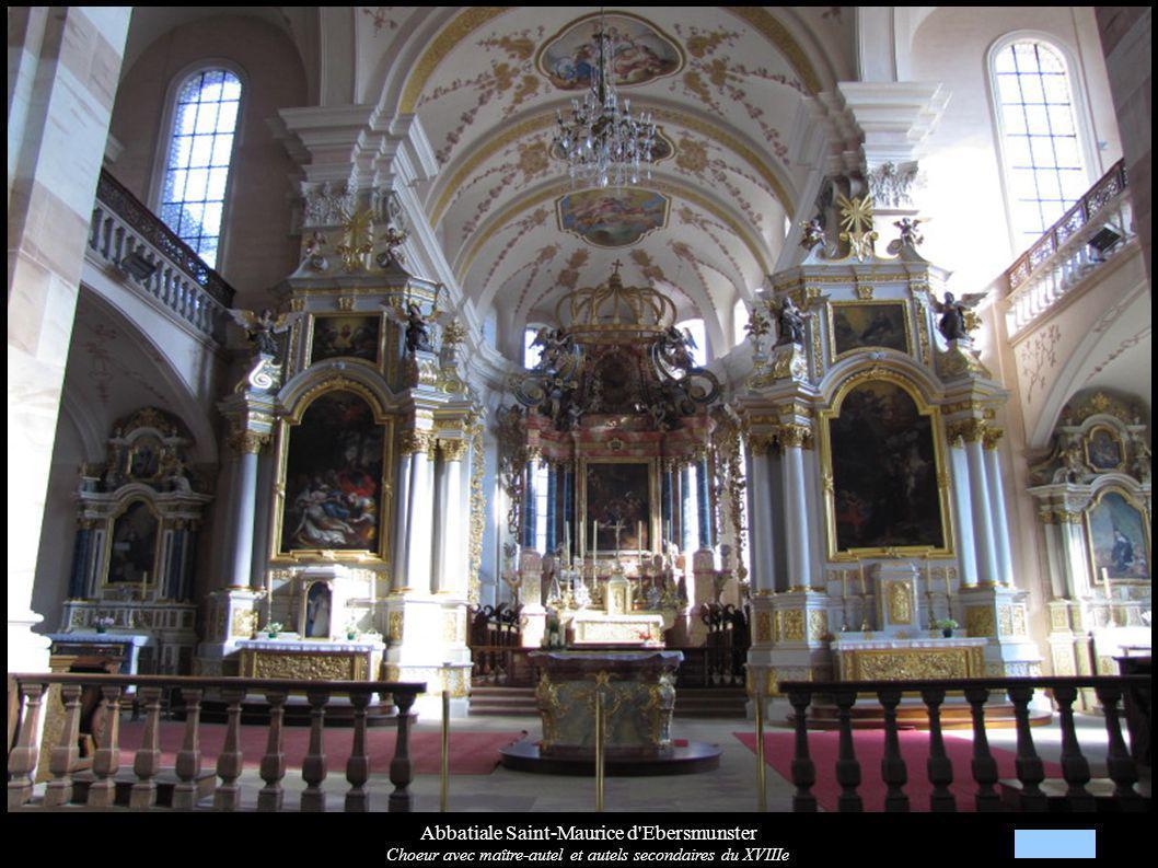 Abbatiale Saint-Maurice d'Ebersmunster Choeur avec maître-autel et autels secondaires du XVIIIe
