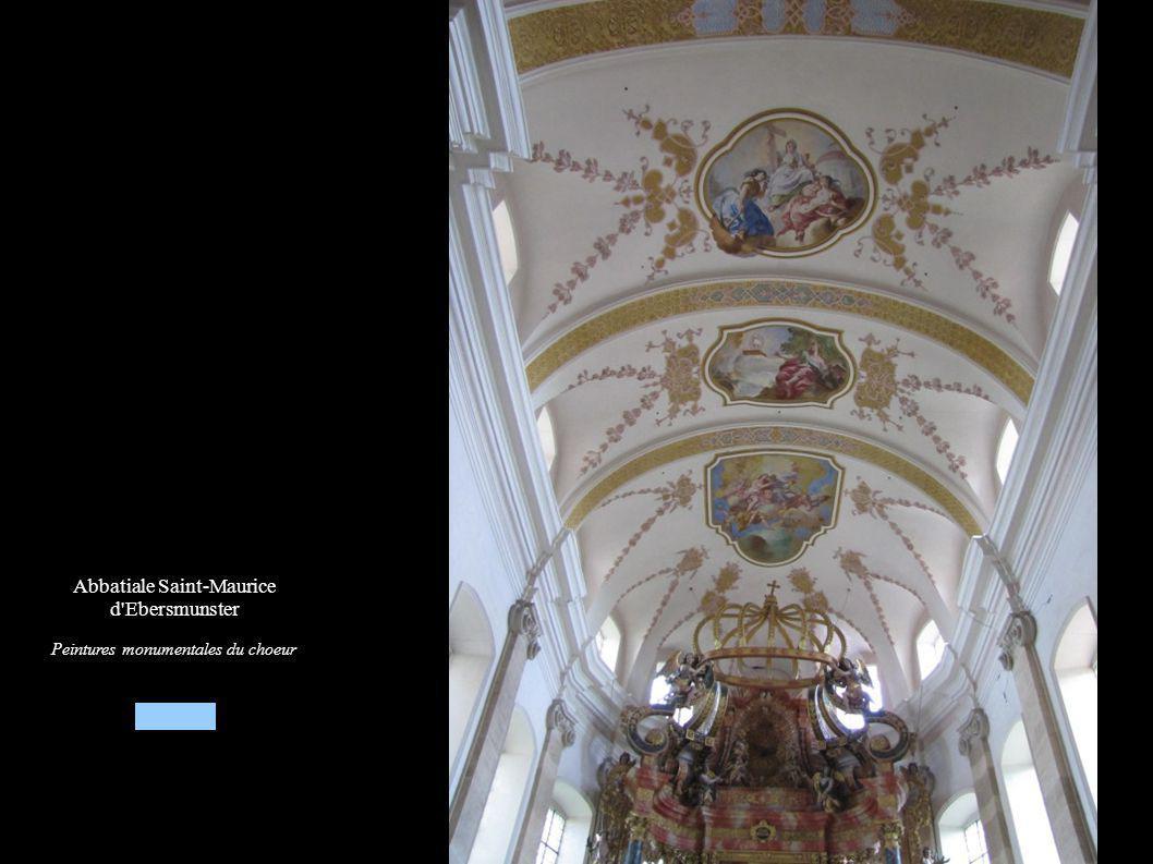 Abbatiale Saint-Maurice d Ebersmunster Peintures monumentales du choeur