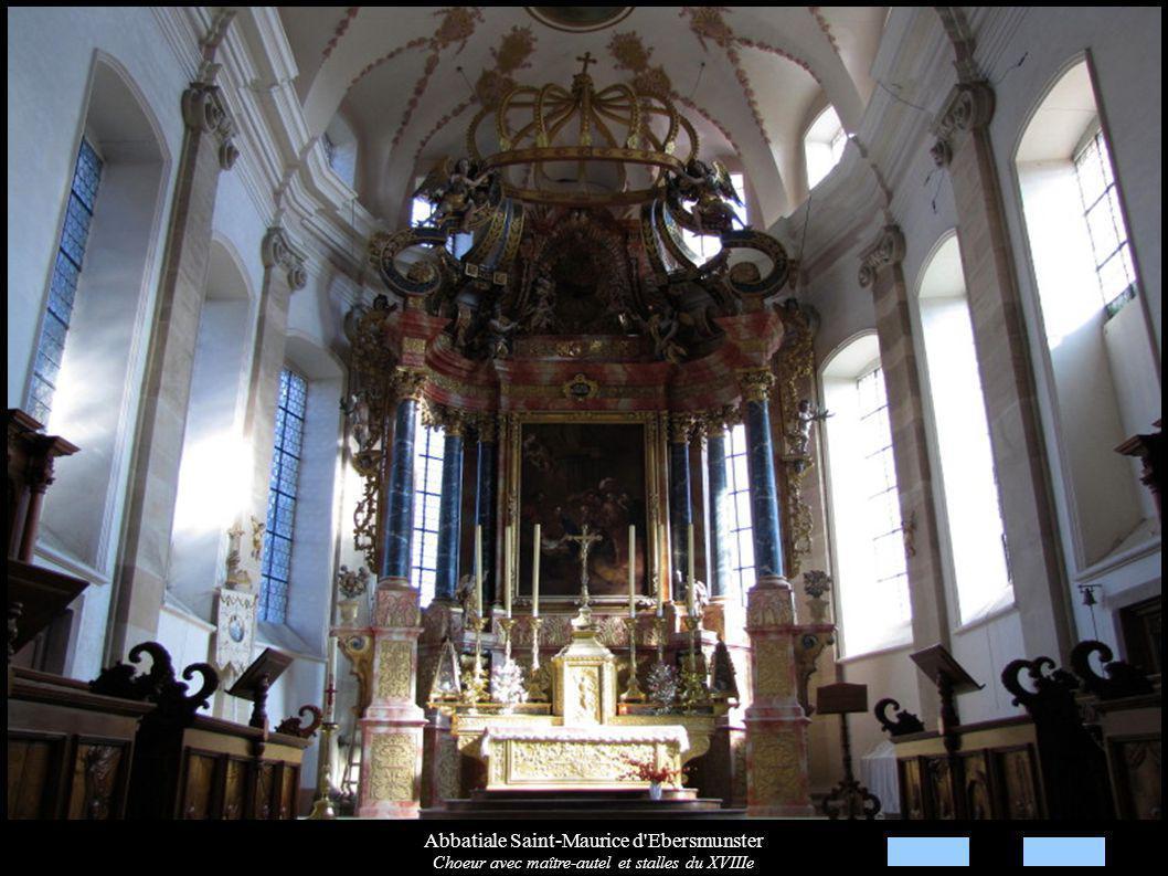 Abbatiale Saint-Maurice d Ebersmunster Choeur avec maître-autel et stalles du XVIIIe