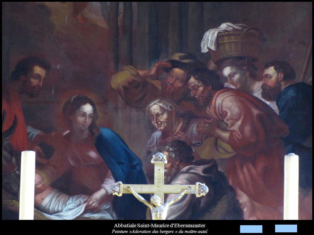 Abbatiale Saint-Maurice d Ebersmunster Peinture «Adoration des bergers » du maître-autel