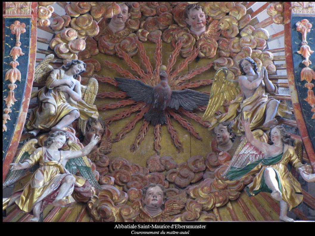 Abbatiale Saint-Maurice d'Ebersmunster Couronnement du maître-autel