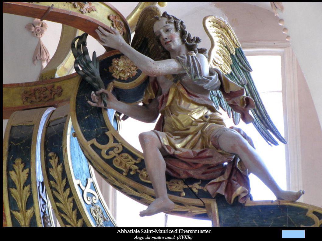 Abbatiale Saint-Maurice d'Ebersmunster Ange du maître-autel (XVIIIe)