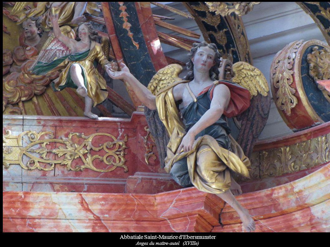 Abbatiale Saint-Maurice d'Ebersmunster Anges du maître-autel (XVIIIe)