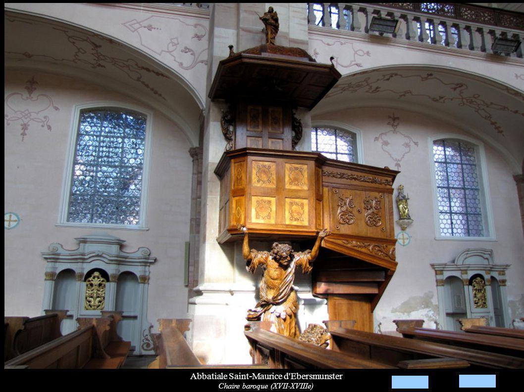 Abbatiale Saint-Maurice d Ebersmunster Chaire baroque (XVII-XVIIIe)